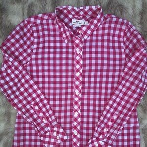 Vineyard Vines Pink/White Checkered Blouse 8